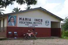 One of the polling stations, held at a Catholic girl's school